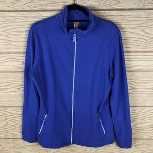 LUCY Royal Purple Zip Up Soft Sweater Jacket
